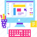 computer, design, graphics, office, web, work icon