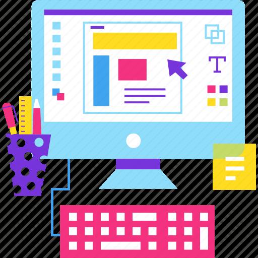 computer, design, graphics, office, web, work icon