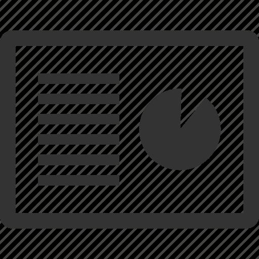 data, graph, project, report, slide icon