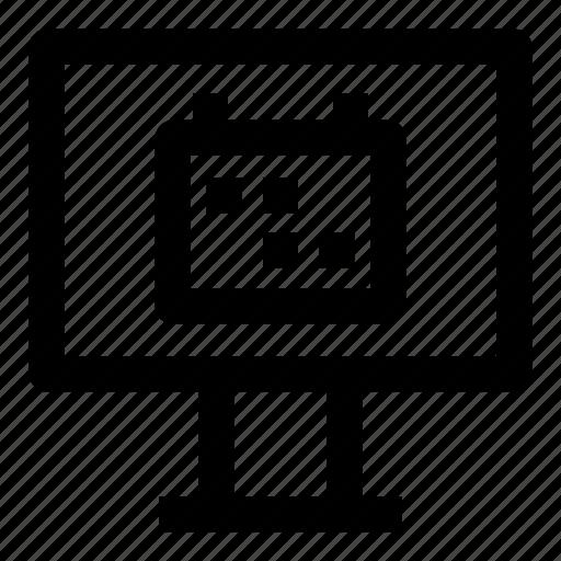 calendar, date, desktop, event, month, plan, schedule icon