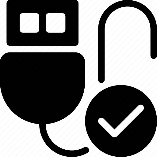 database, done, drive, storage, usb icon