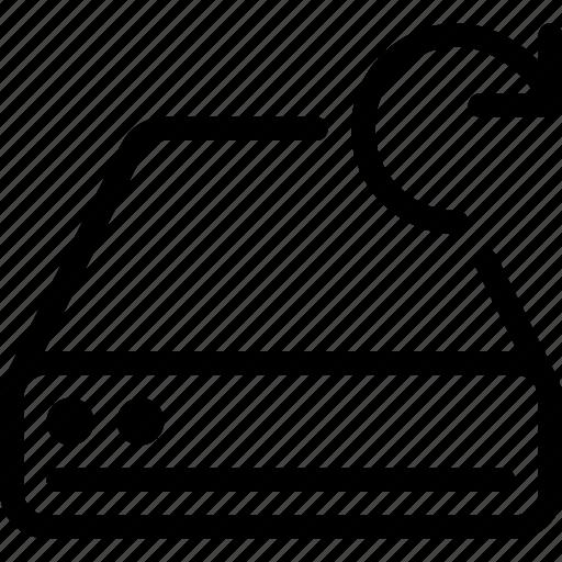 drive, refresh, reload, rotate, storage icon