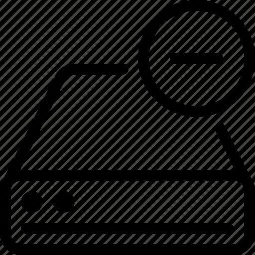 cancel, database, drive, remove, storage icon