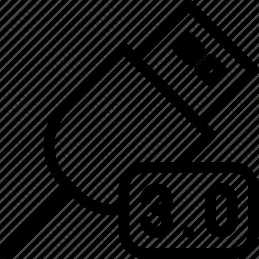 data, database, device, storage, usb icon