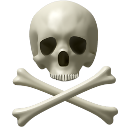 alert, attention, avatar, awful, bone, bones, caution, danger, dead, deadly, death, error, exclamation, halloween, horror, kill, monster, monsters, scary, skull, spooky, user, warning icon