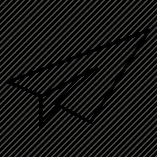 desktop, paper, plane, sent icon