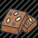 bakery, brownie, chocolate, dessert, homemade icon