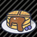 breakfast, delicious, dessert, food, waffle icon