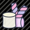 dessert, fluffy, marshmallow, soft, sweet icon