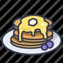 breakfast, dessert, homemade, pancake, sweet icon