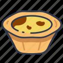 bakery, dessert, egg, sweet, tart icon