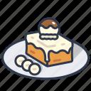 bread, cream, dessert, honey, ice, toast