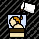 affogato, coffee, dessert, icecream, recipes icon