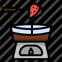 chocolate, dessert, fondue, sweet