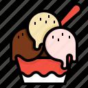 chocolate, cream, dessert, ice, scoop, sweet