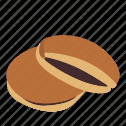 beans, bread, dessert, doraemon, doriyaki, food, japan icon