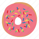 bread, dessert, donut, doughnut, simpsons, sprinkles, sweet icon