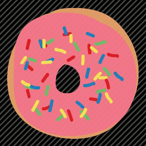 bread, dessert, donut, doughnut, simpsons, sprinkles, sweet icon