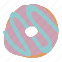 bread, dessert, donut, doughnut, food, sweet icon