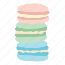 cute, dessert, food, kawaii, macarons, pastel, sweet icon