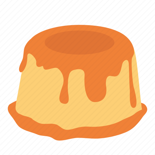 dessert, food, golden, pudding, sweet icon