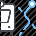 train, route, path, transport, map, segment, urban icon