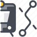 navigation, view, route, train, segment, transport, destination icon