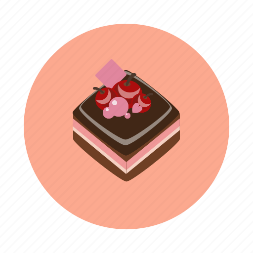 cake, cherry, choco, dessert, food, sdesign, sweet icon