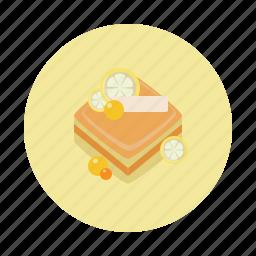 cake, dessert, food, lemon, sdesign, sweet, yellow icon