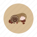 cake, coffee, dessert, food, roll, sdesign, sweet icon