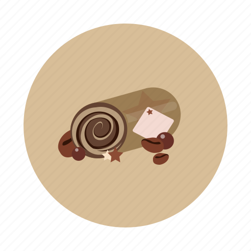 cake, coffee, dessert, food, roll, sdesign, sweet icon