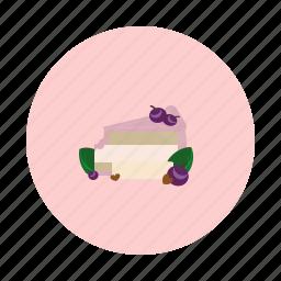 blueberry, cake, cream, dessert, food, sdesign, sweet icon