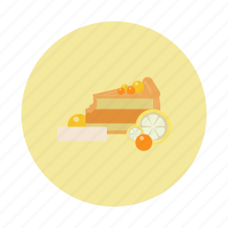 cake, dessert, food, lemon, sdesign, sweet, yellow icon
