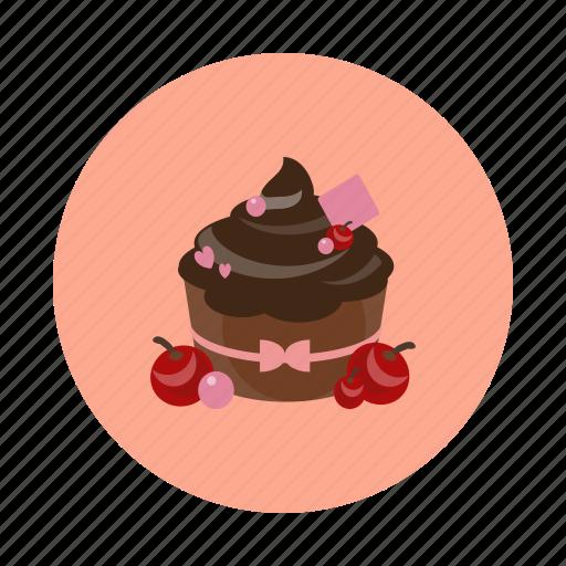 cake, choco, cupcake, dessert, food, sdesign, sweet icon