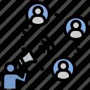 announce, communicate, connection, news, propaganda icon
