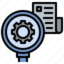 check, consider, detecting, research, source icon