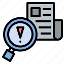 check, detecting, news, research, verify icon