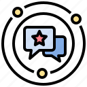 chat, communication, hot, issue, sharing icon