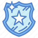 badge, police, shield icon