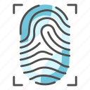 crime, detective, fingerprint, id, print, security, thumbprint icon