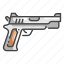 detective, bullet, weapon, violence, gun, protection, pistol icon