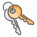 detective, house, key, lock, safe, secure, security icon