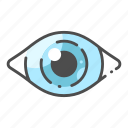 detective, eye, focus, future, strategy, view, vision icon