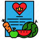 cookbook, food, formula, method, recipe icon
