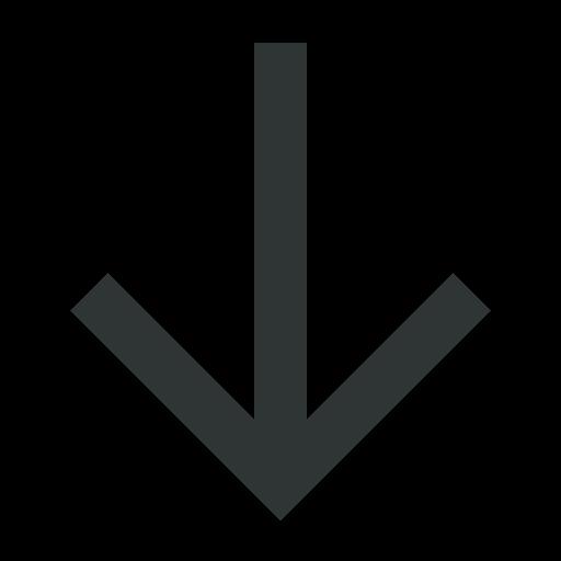 arrow, arrowdown, arrows, down, download icon
