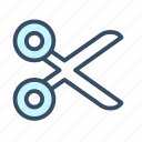 cut, developer, scissors, tool icon
