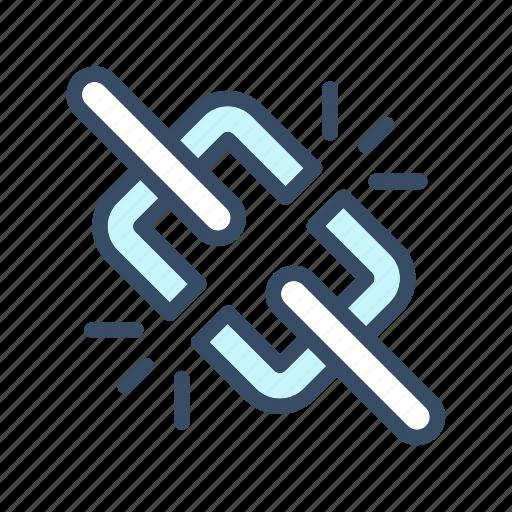 broken chain, broken hyperlink, broken link, developer icon