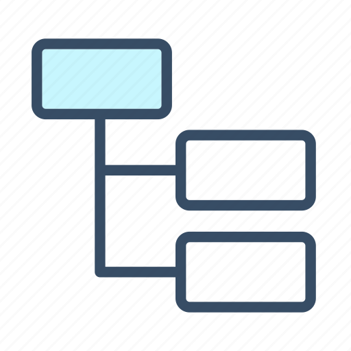 developer, list, management, proces, tree list, tree view icon