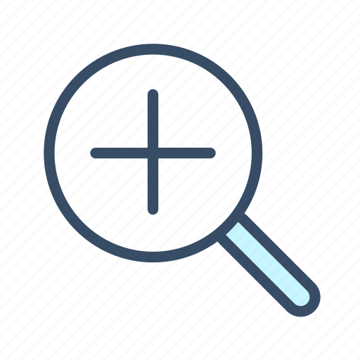 developer, in, magnifier, magnifying glass, zoom in icon
