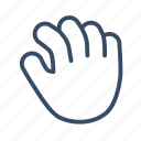 developer, hand, hold, move icon